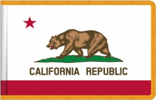 Indoor California State Flag, Nylon