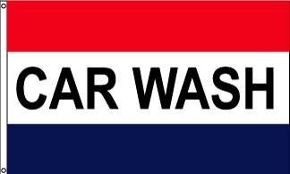 Car Wash Message Flag