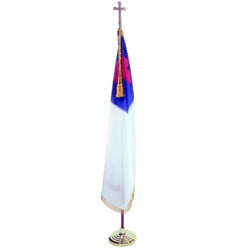 Christian Indoor Flag with Pole Hem and Fringe