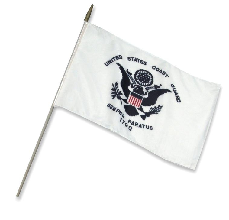 "12"" x 18"" Coast Guard Stick Flag"
