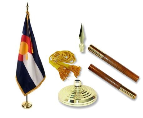 Colorado Indoor State Flag Set