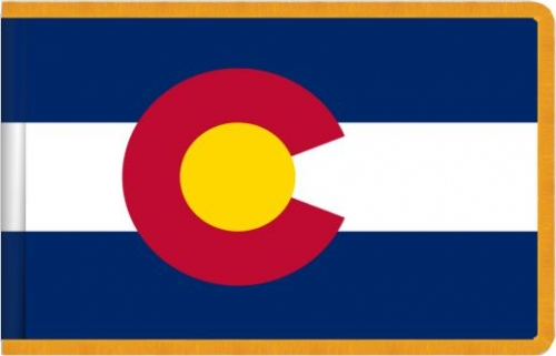Indoor Colorado State Flag, Nylon