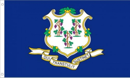 Connecticut Flag, Polyester