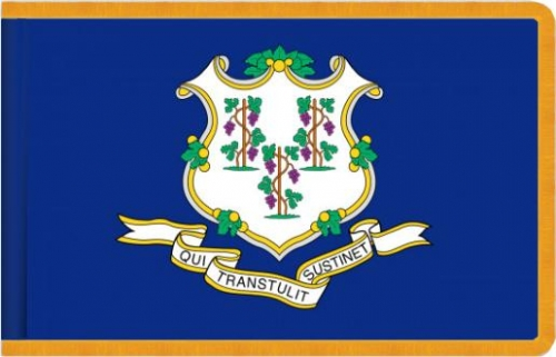 Indoor Connecticut State Flag, Nylon