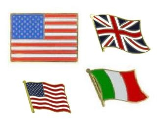 Country Lapel Pins