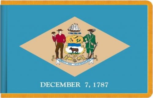 Indoor Delaware State Flag, Nylon