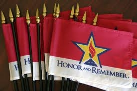 "4""x6"" Honor and Remember Desk Flags, Dozen"