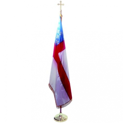 Episcopal Indoor Flag with Pole Hem and Fringe