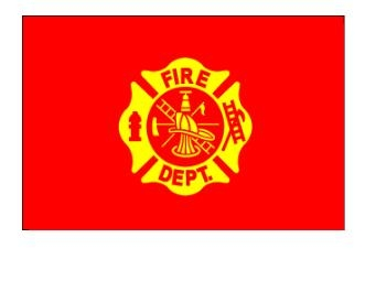 3' x 5' Fire Department Flag