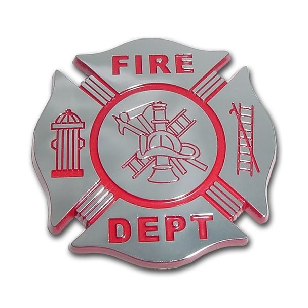 Firefighter Chrome Automobile Emblem