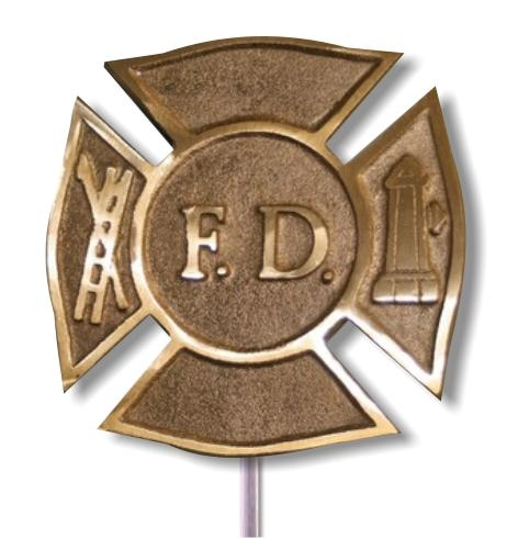FD (Maltese Cross) Bronze Grave Marker