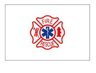 3' x 5' Fire and Rescue Nylon Flag
