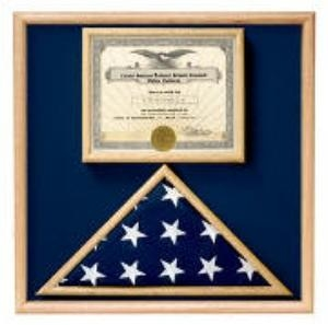 Folded Military Ceremonial Flag w/Document Case, Blue