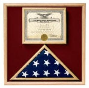 Folded Military Ceremonial Flag w/Document Case, Red