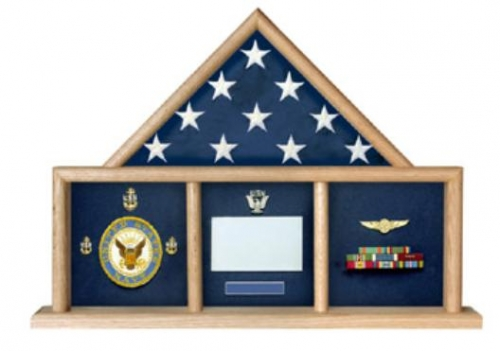 Folded Military Ceremonial Flag Triangle with 3 Bays