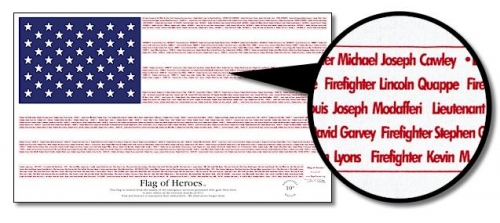 3' x 5' Flag of Heros Nylon Flag
