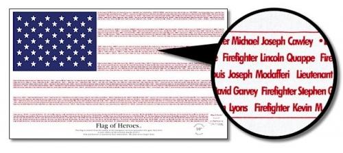 3' x 5' Flag of Heros Flag