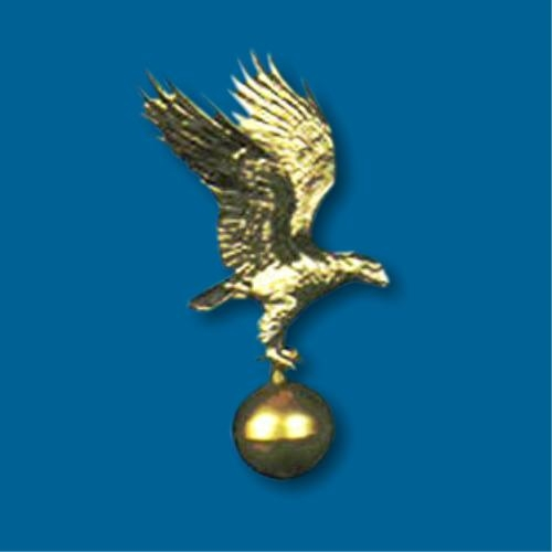 Gold Flagpole Eagle