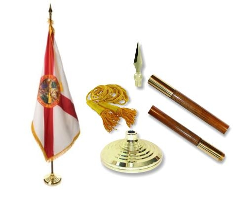 Florida Indoor State Flag Set