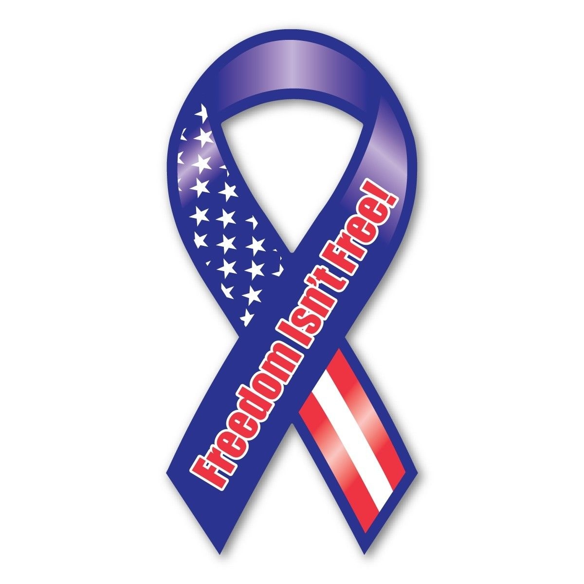 Red, White & Blue Car Magnet