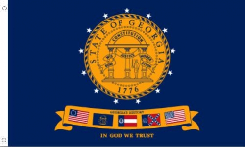 Nylon Georgia State Flag, 2001