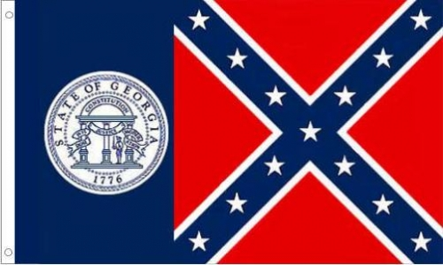 Georgia State Flag, Old
