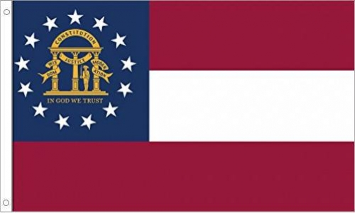 Georgia Flag, Polyester