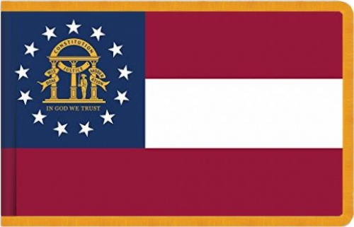 Indoor Georgia State Flag, Nylon