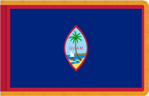 Indoor Guam Flag, Nylon