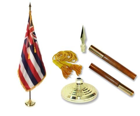 Hawaii Indoor State Flag Set