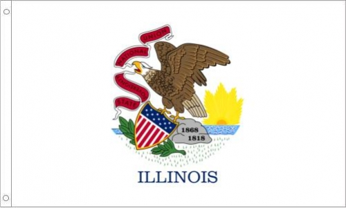 Illinois Flag, Polyester