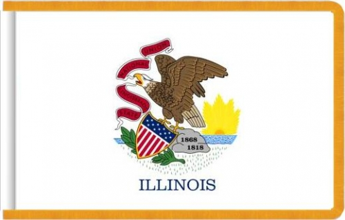 Indoor Illinois State Flag, Nylon