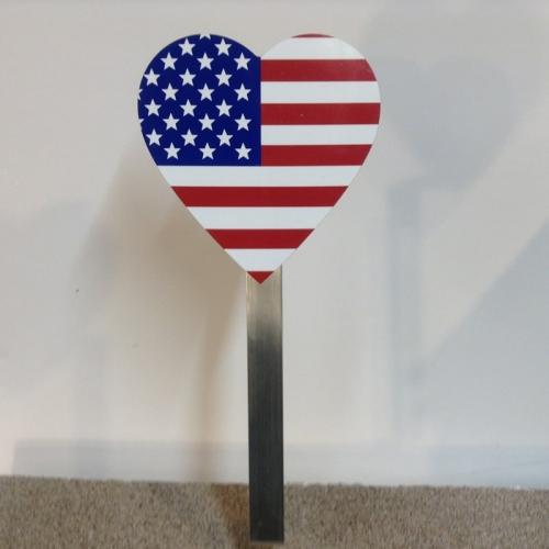 American Heart Flag Holder