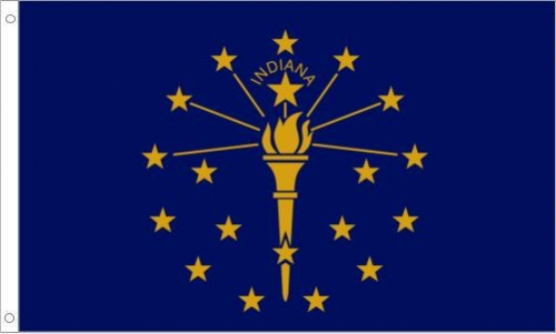 Indiana Flag, Polyester