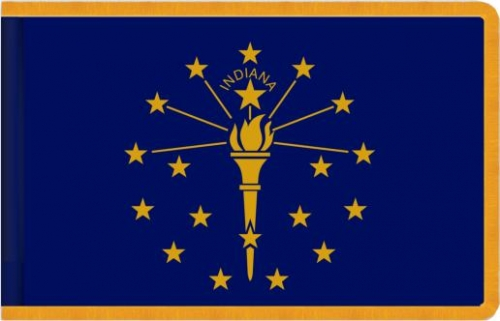 Indoor Indiana State Flag, Nylon
