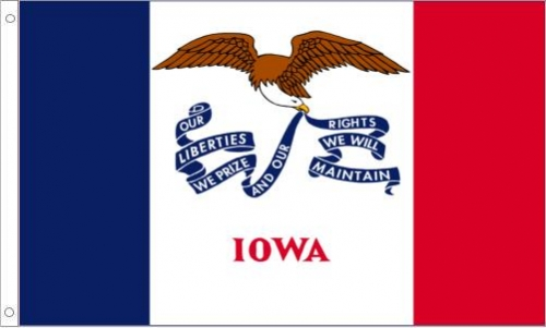 Iowa Flag, Nylon