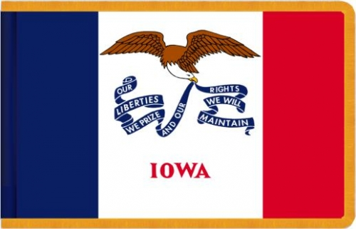 Indoor Iowa State Flag, Nylon