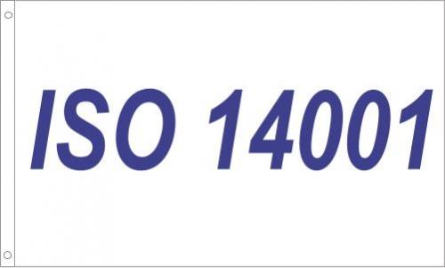 ISO 14001 Printed Flag
