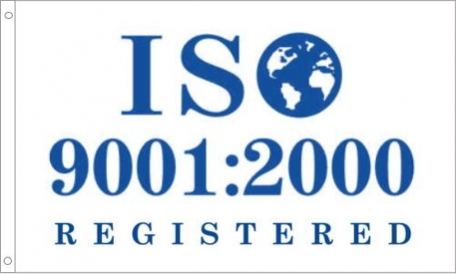 ISO 9001-2000 Registered Printed Flag
