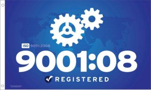 ISO 9001 2008 Printed Flag