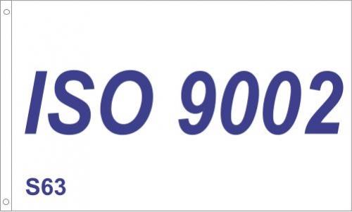 S63 ISO 9002 Flag