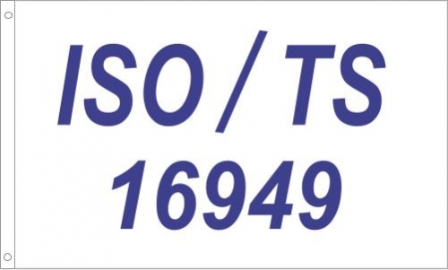 ISO/TS 16949 Registered Printed Flag