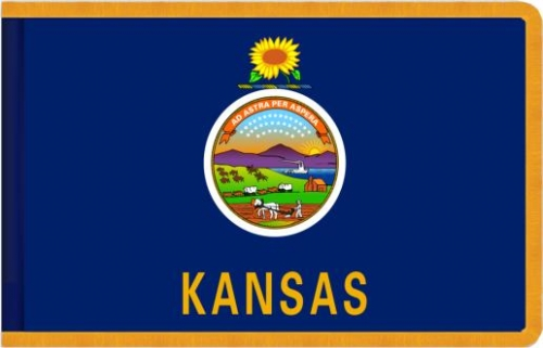 Indoor Kansas State Flag, Nylon