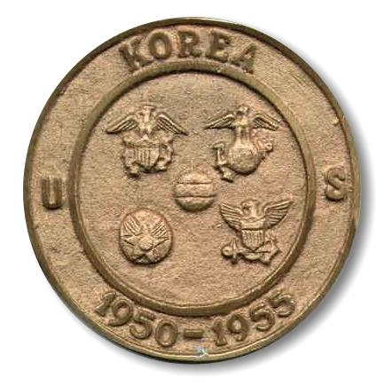 Korean War 1950-1955 Bronze Globe Grave Marker