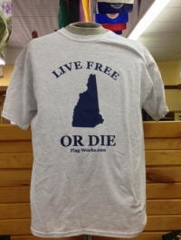 Live Free or Die T-Shirt, Ash Grey