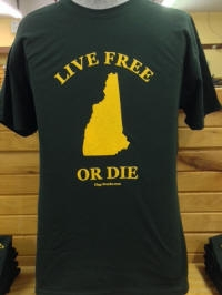 Live Free or Die T-Shirt, Hunter Green