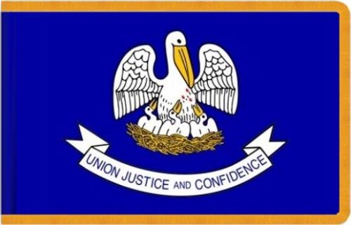 Indoor Louisiana State Flag, Nylon