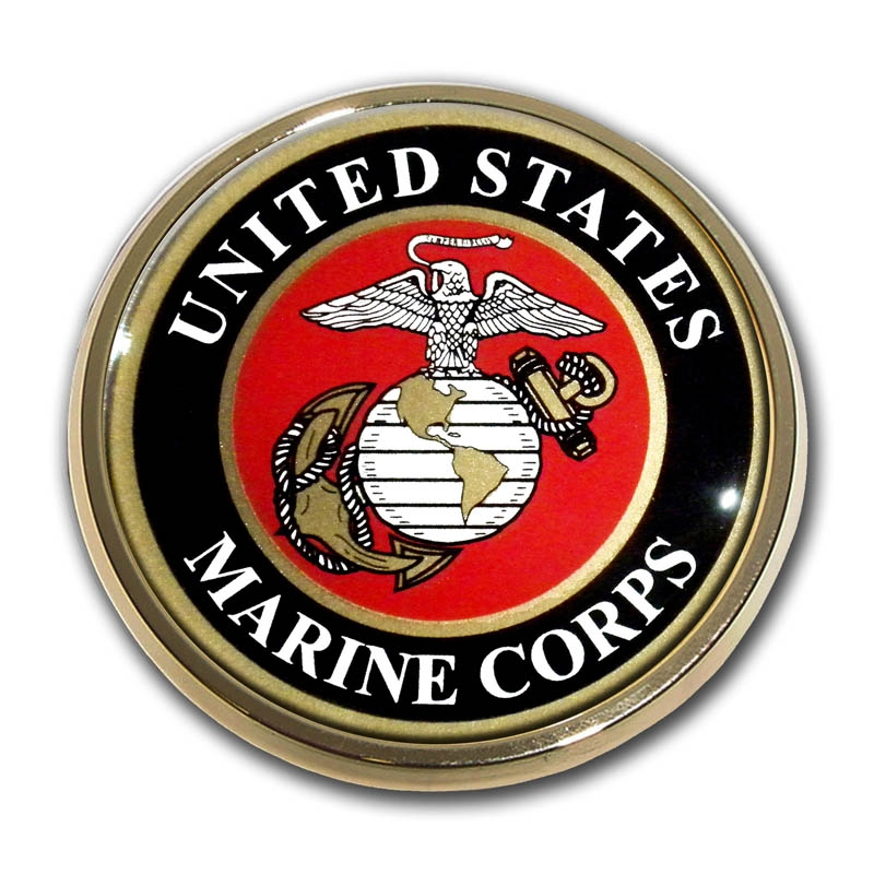 Chrome US Marines Auto Emblem