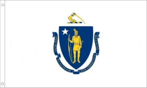 Massachusetts State Flag, Polyester