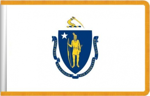 Indoor Massachusetts State Flag, Nylon